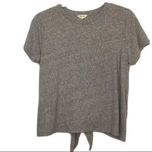Madewell Knot Back Gray T-Shirt Large